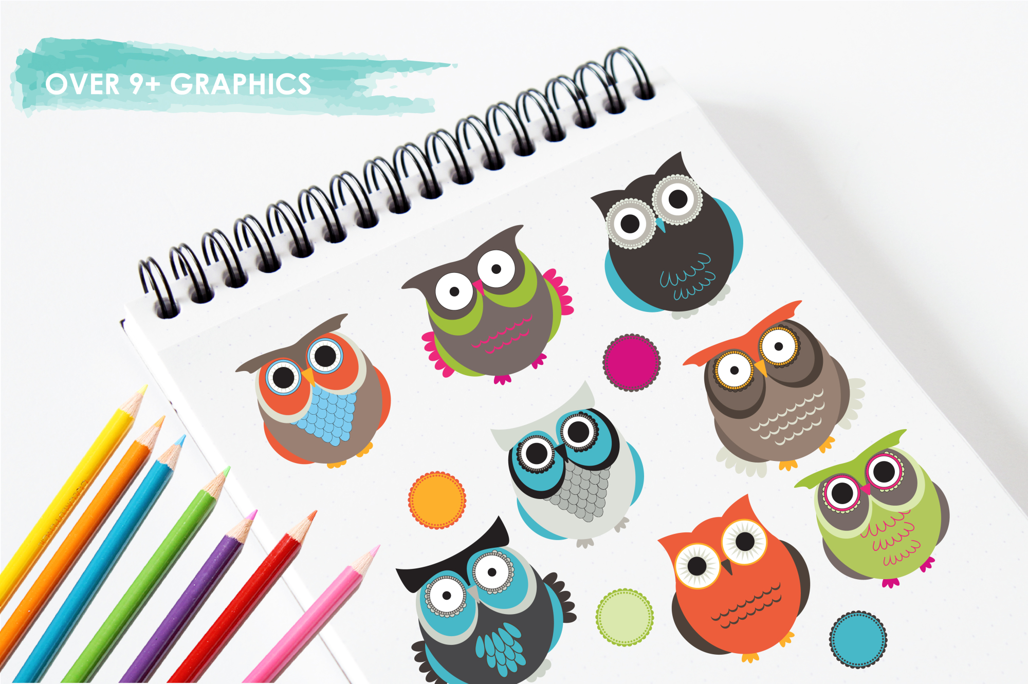 Owl Hoots graphics and illustrations example image 3