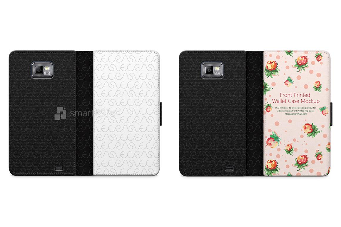 Samsung Galaxy S2 2d Wallet Mobile Case Design Mockup  2011 example image 1