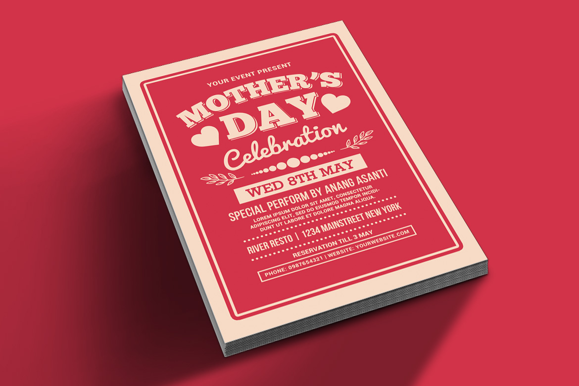 Mother's Day Celebration Typography Style example image 2