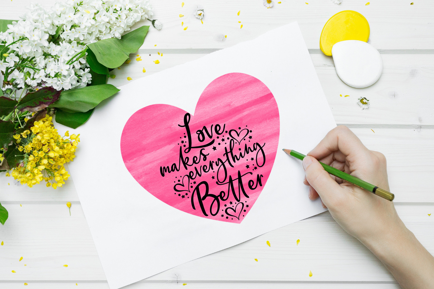 Valentines Day Cards-Posters-Tags-Heart Overlay Cliparts example image 11