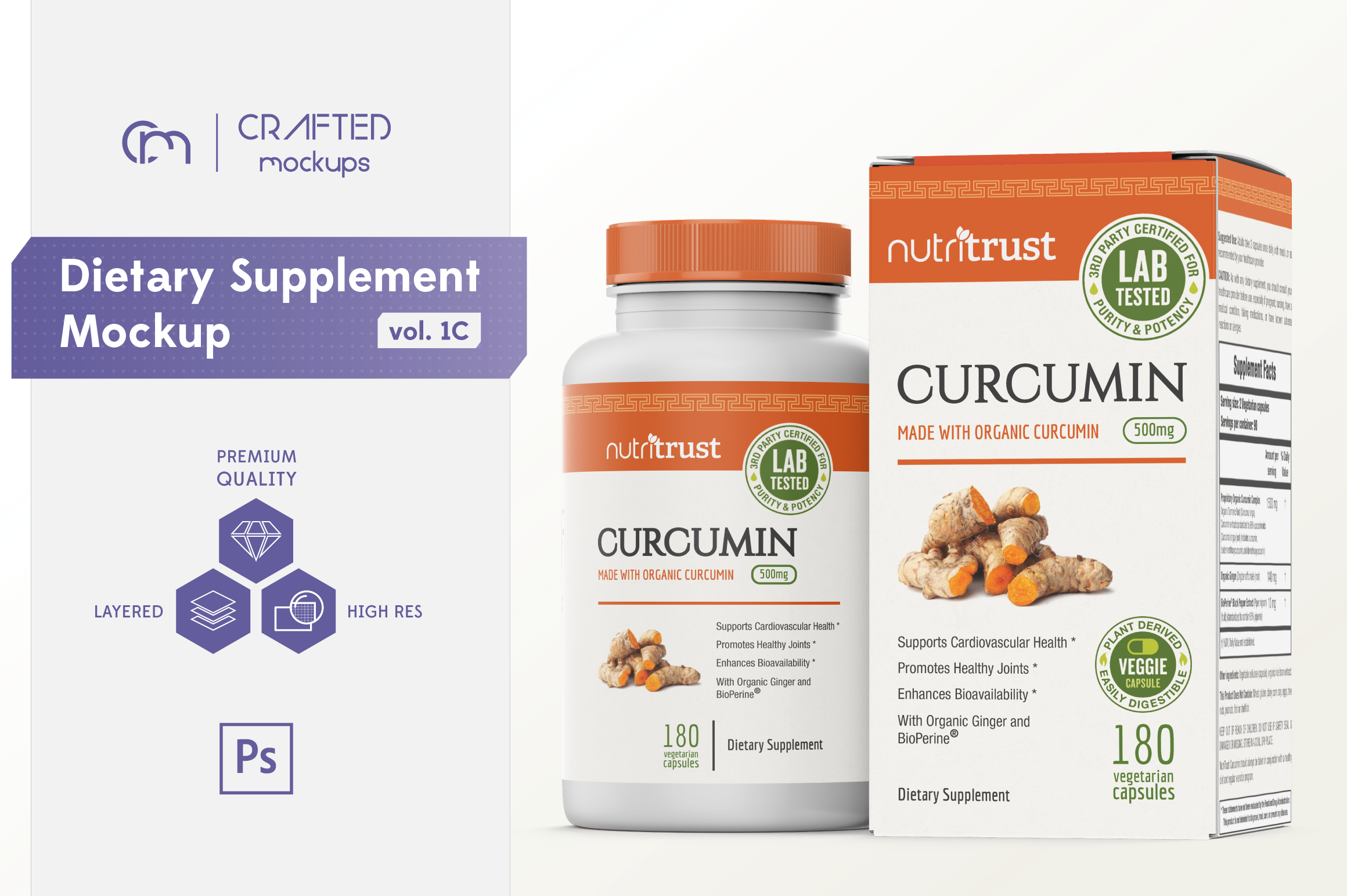 Dietary Supplement Mockup v. 1C example image 1
