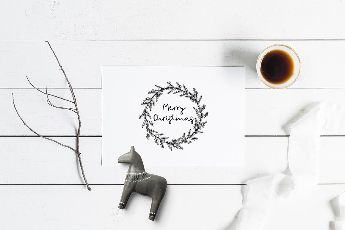 Snowy Christmas script font & logos example image 11