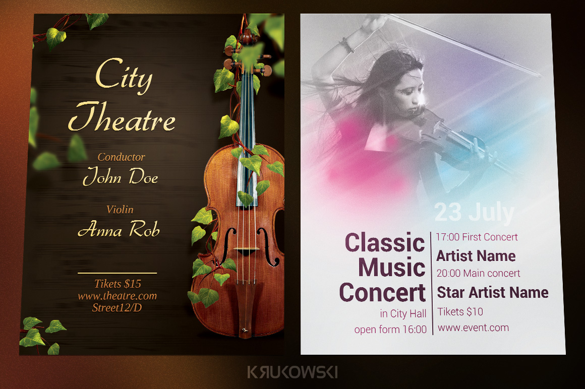 Classical Music Event Flyers Bundle example image 3