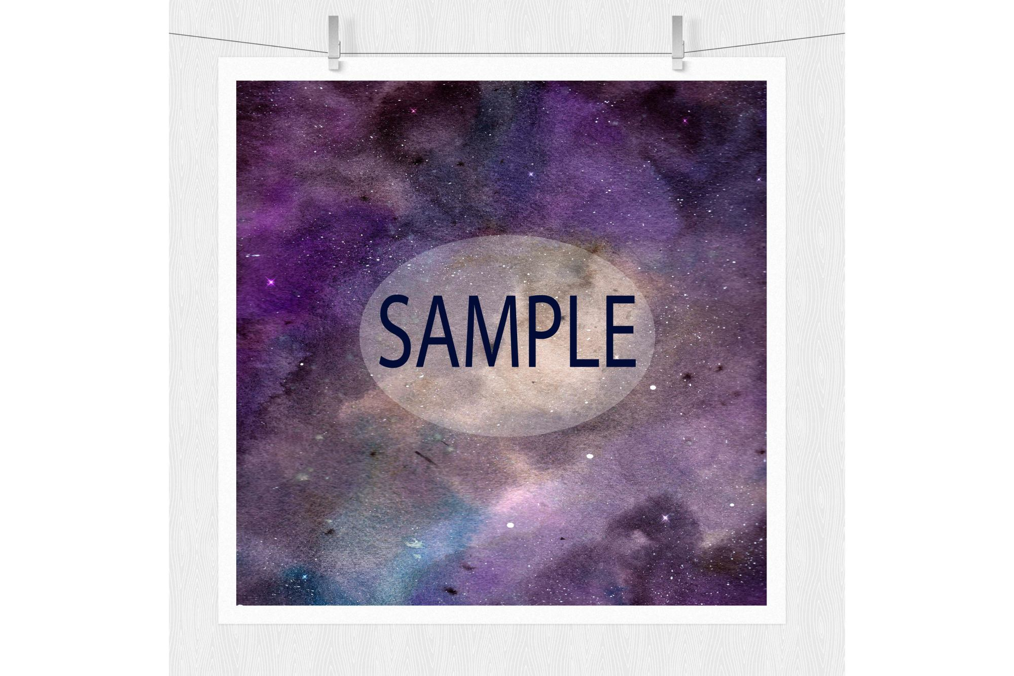 Watercolor Galaxy Digital Prints - Digital Papers example image 3