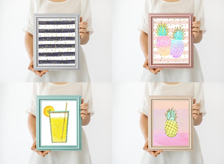 Frame bundle mockup, Collection of Frame, mock up download, modern digital frame, Scandinavian style Product Mockup, Empty Frame Stock Photo example image 2