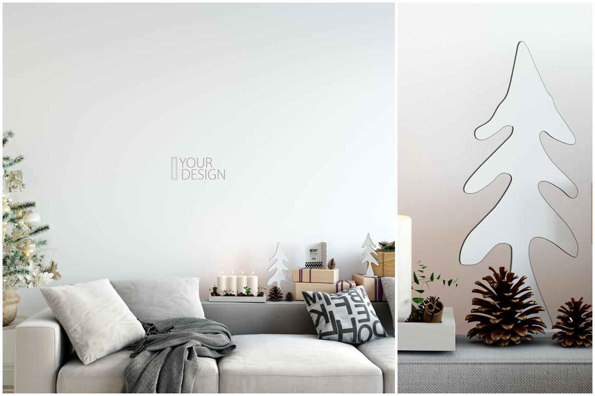 Christmas Wall Mockups example image 5