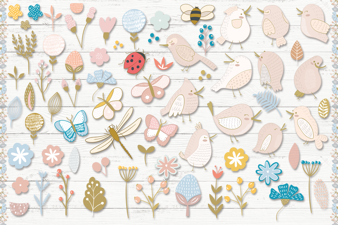 Floral patterns pack example image 9