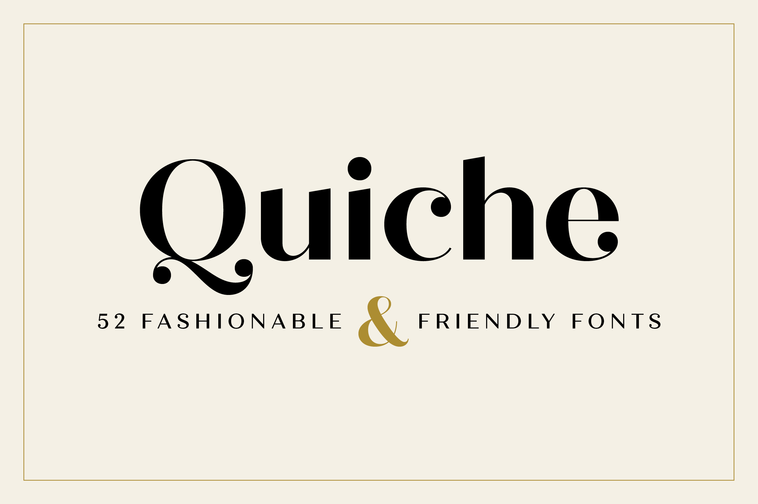 Quiche Font Family example image 1