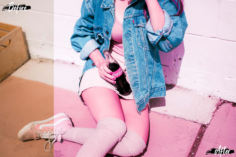 Neo Pink Scent Theme Desktop Lightroom Presets example image 7
