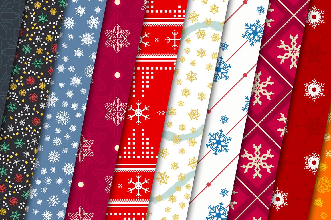 100 Snowflake Seamless Patterns example image 11