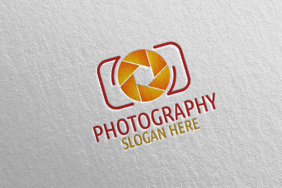 Abstract Camera Photography Logo 2 example image 3