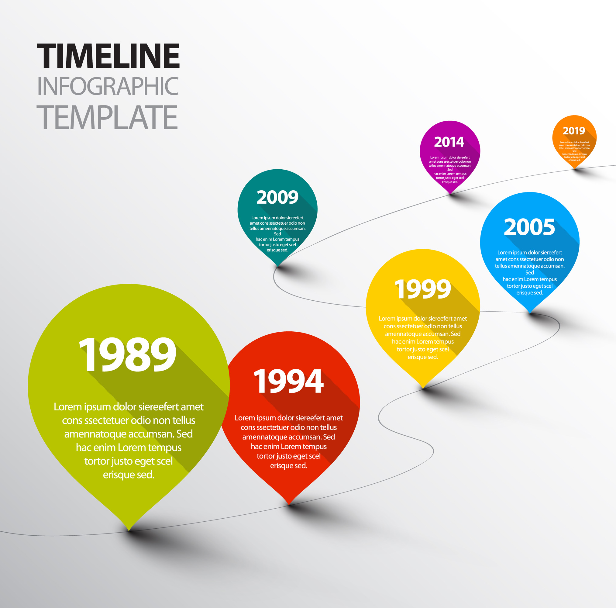 Infographic Timeline Templates Bundle example image 2