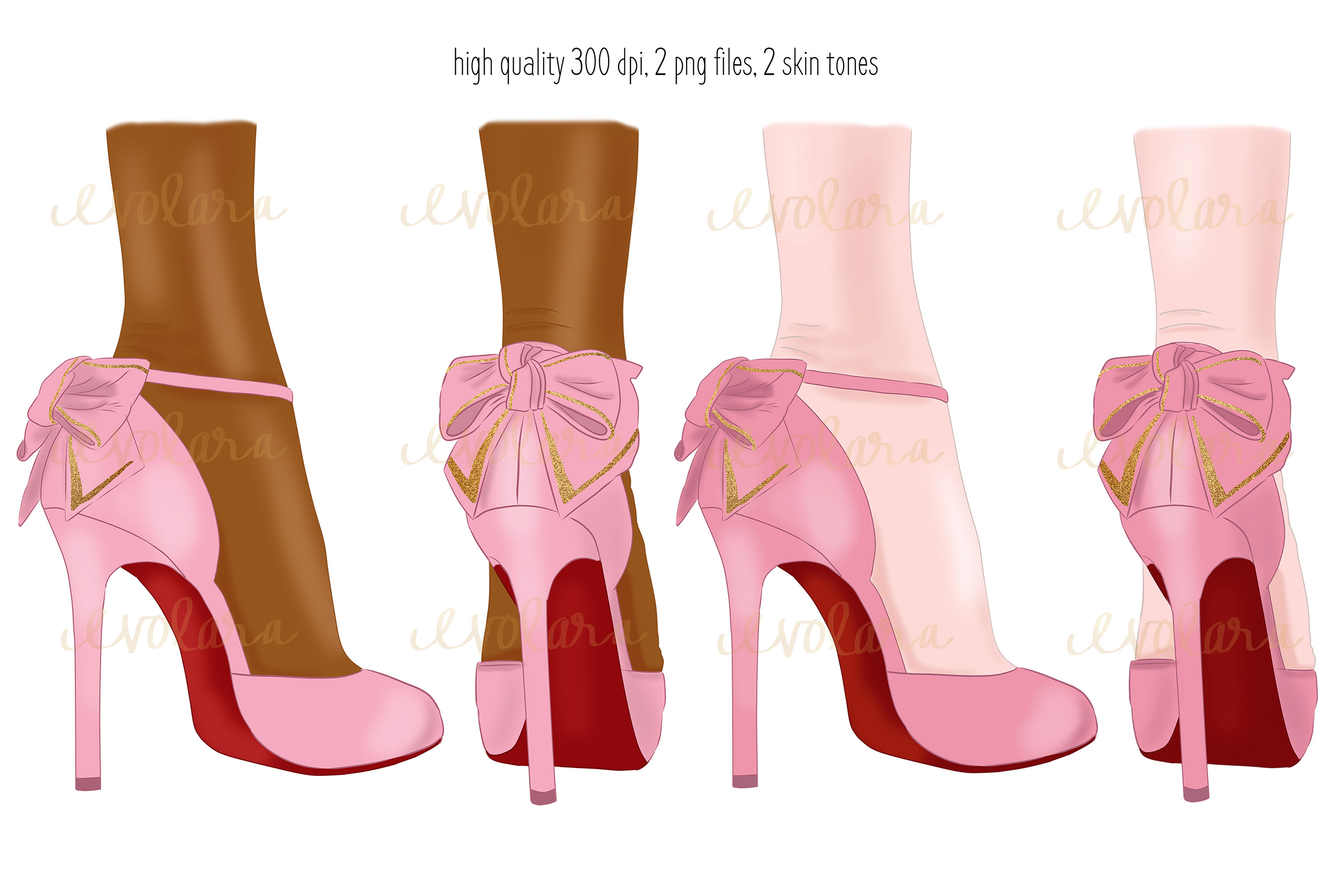 High Heel Shoes Clipart Pink Heels Fashion Illustrations example image 2