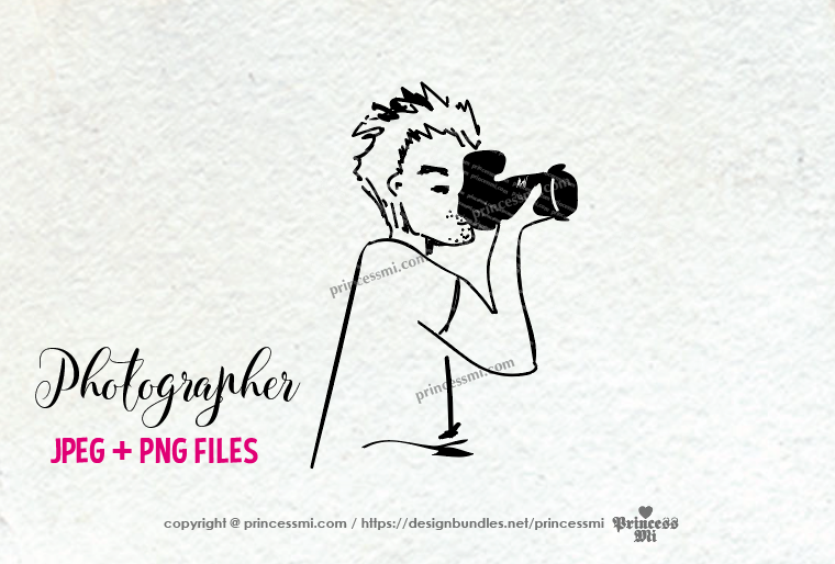photographer clipart - men holding camera example image 3
