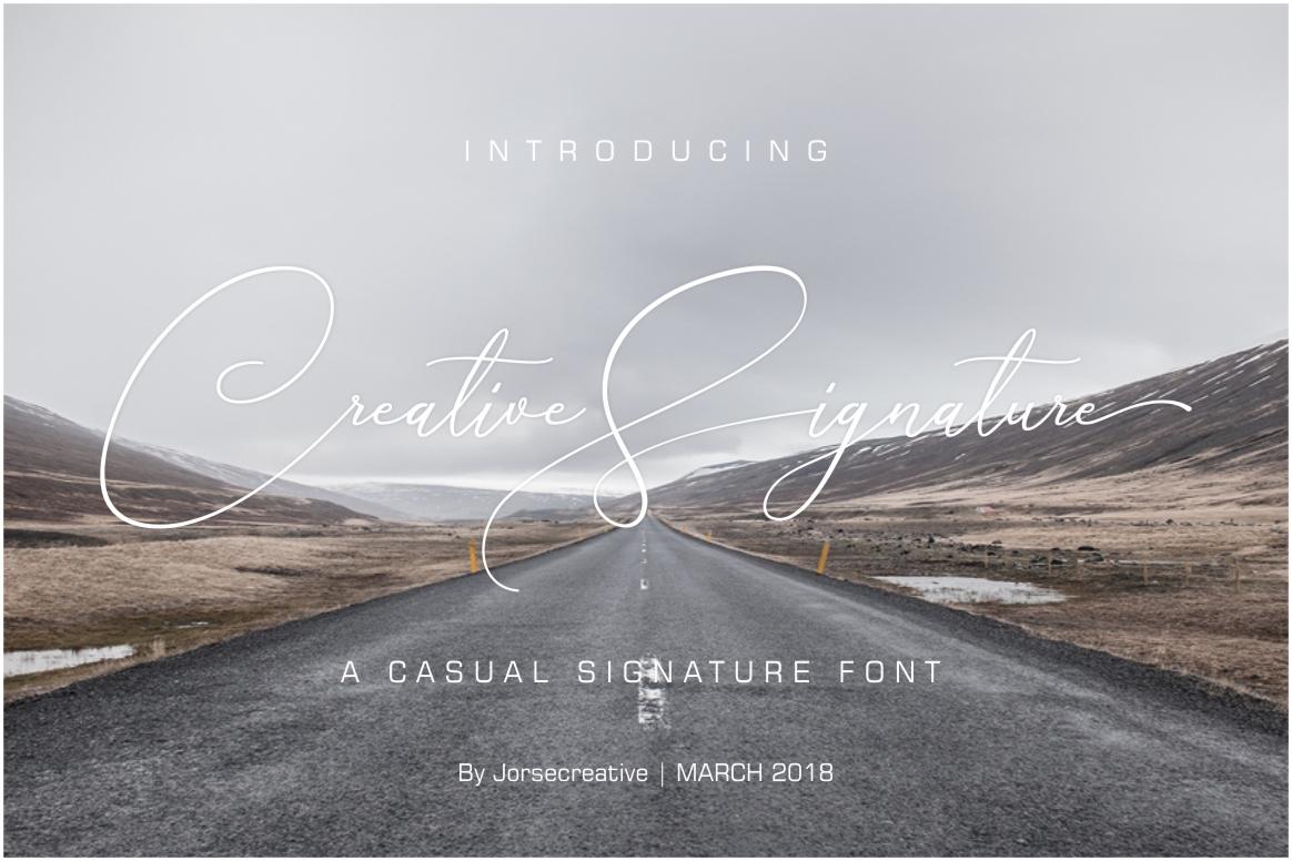 Creative Signature Font example image 1
