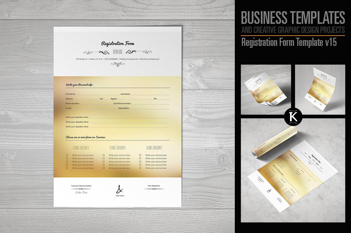 Registration Form Template v15 example image 1