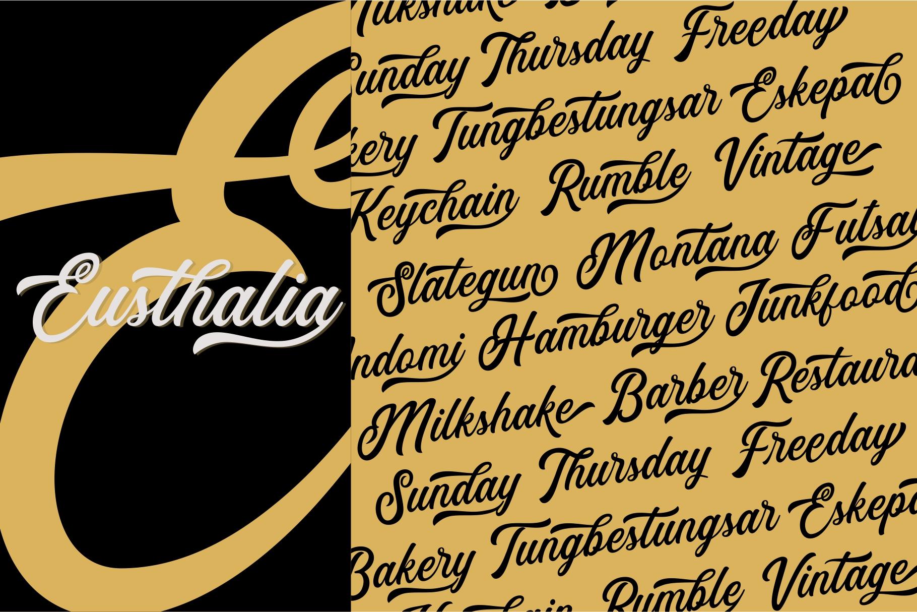 Eusthalia Font Family example image 5