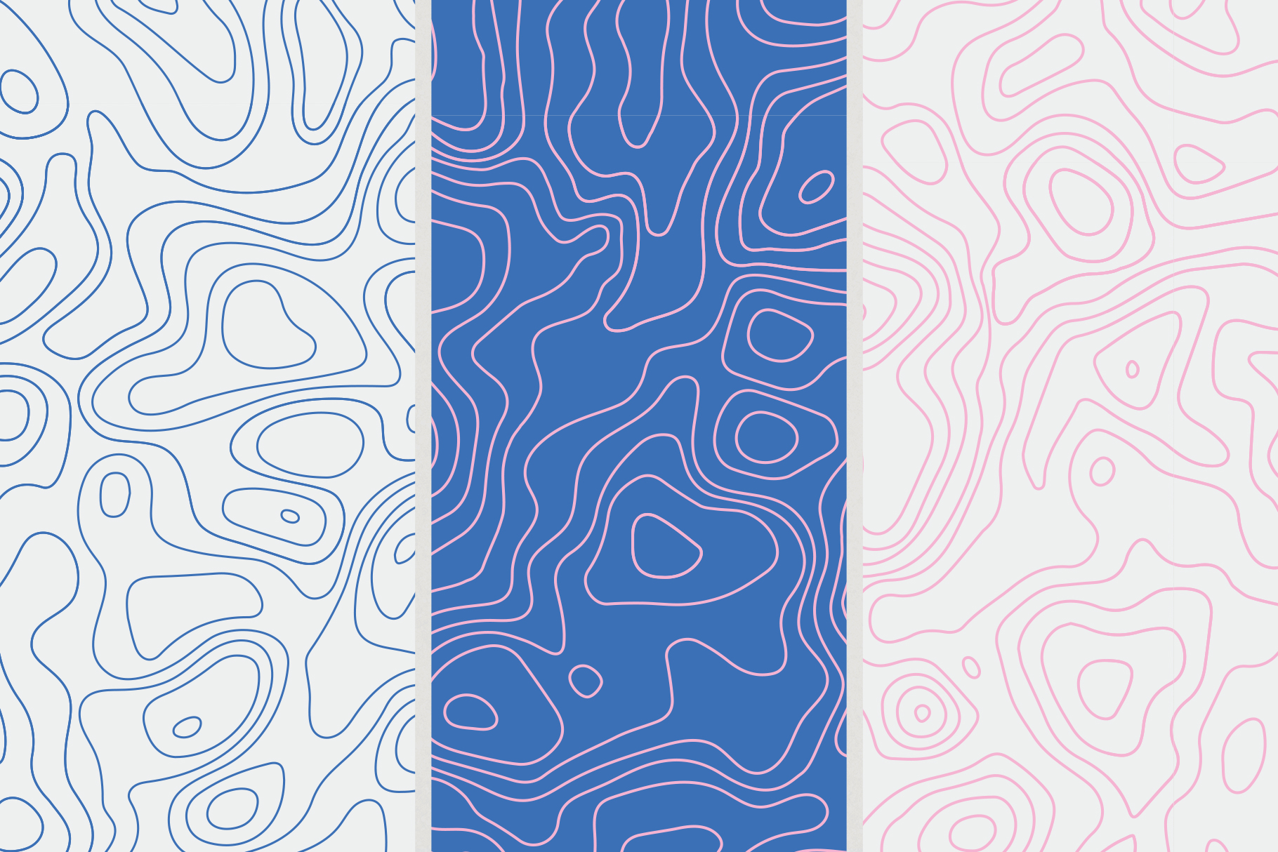9 Topographic Maps Seamless Patterns example image 5