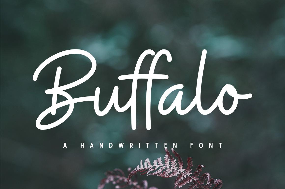 Buffalo Font example image 1