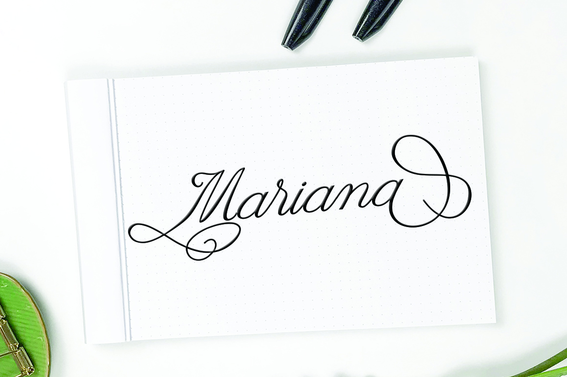 Claudia Calligraphy example image 7