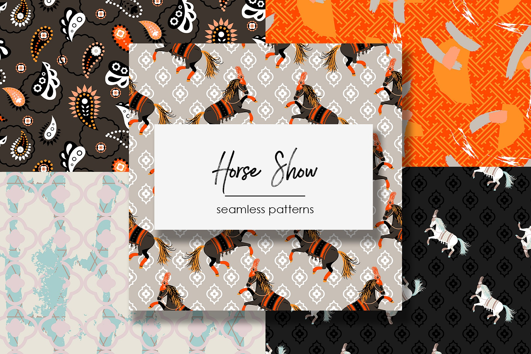 Horse Show - Seamless Patterns example image 1