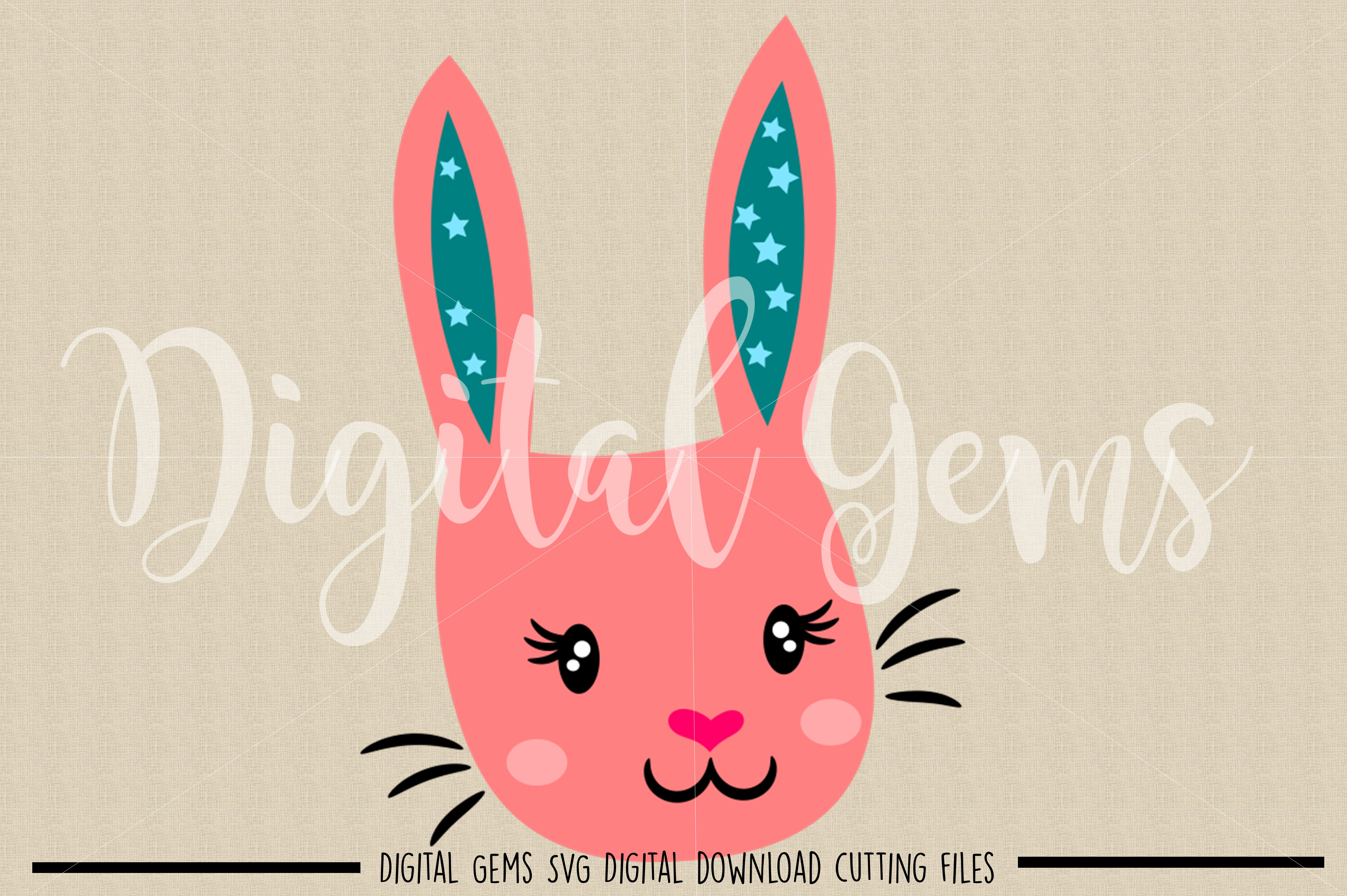 Rabbit SVG / DXF / EPS / PNG files example image 2