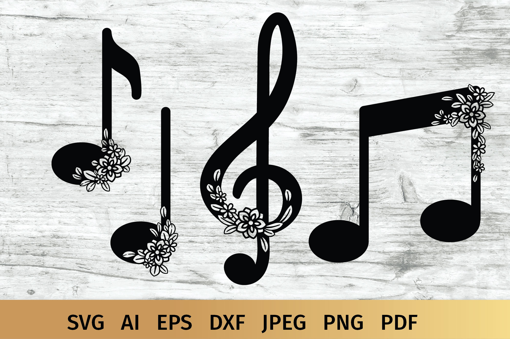 Music Notes svg example image 1