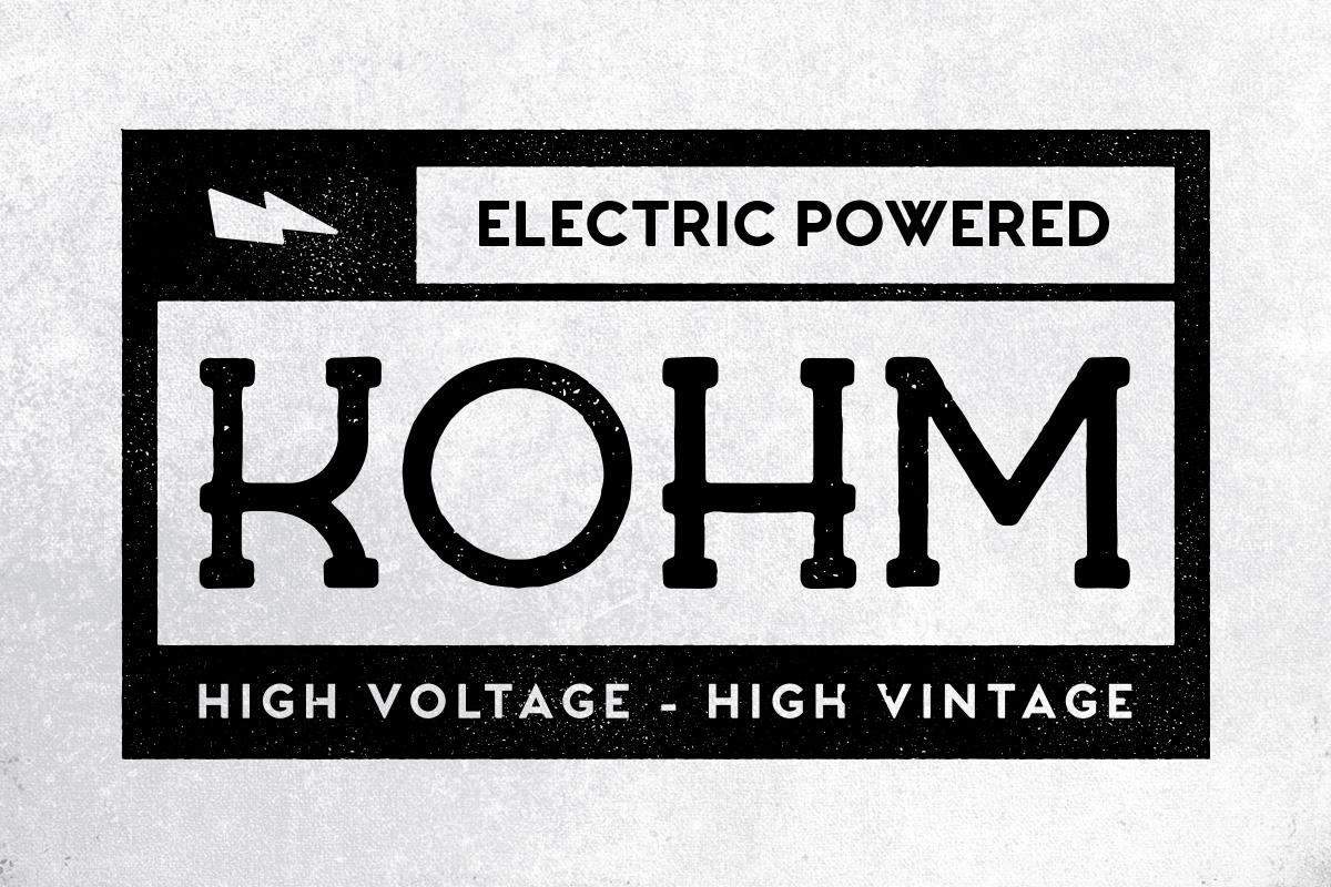 Kohm - Vintage Font example image 1