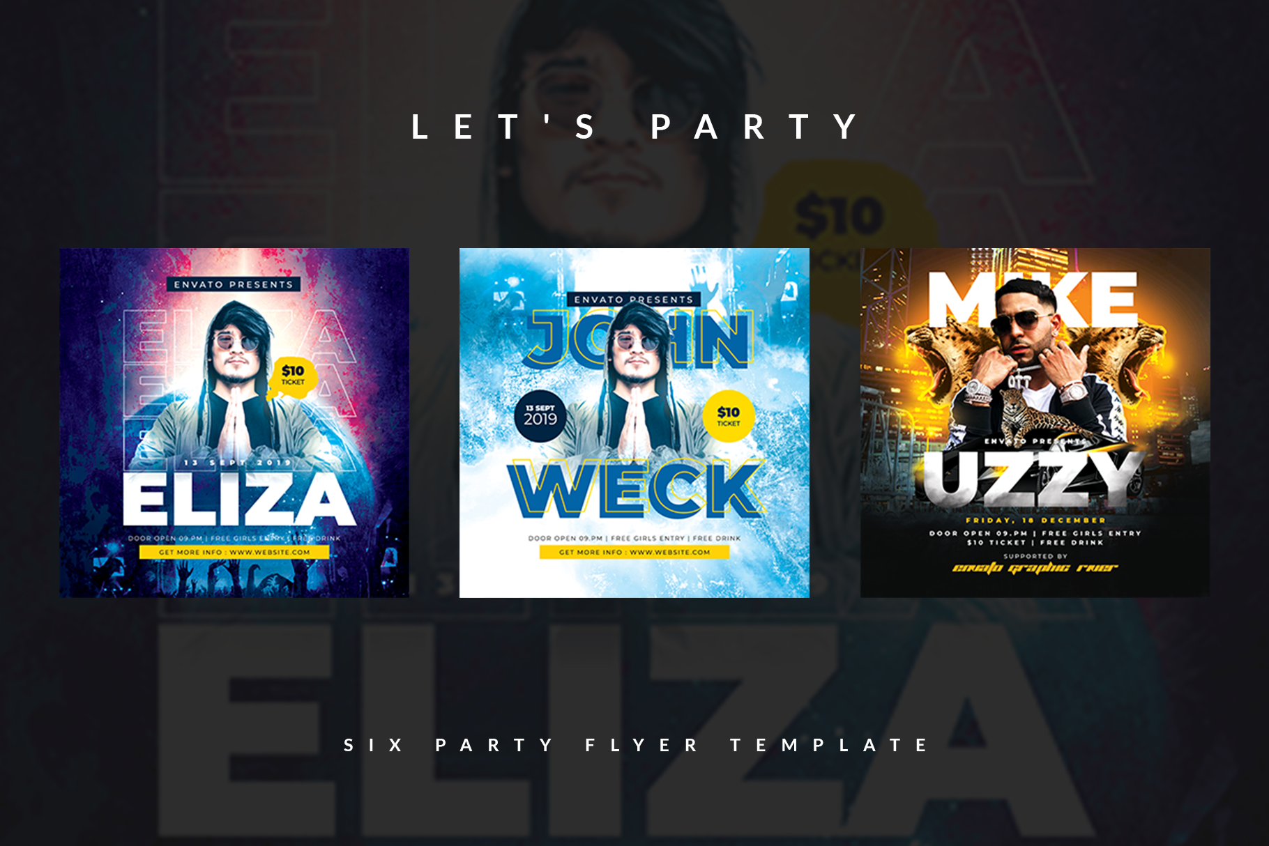 Six Party Flyer Templates example image 3