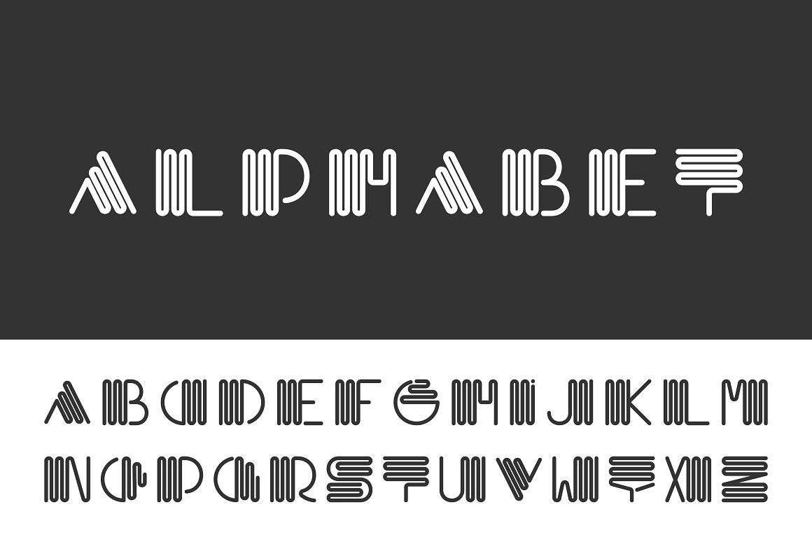 Alphabet set - creative font example image 1