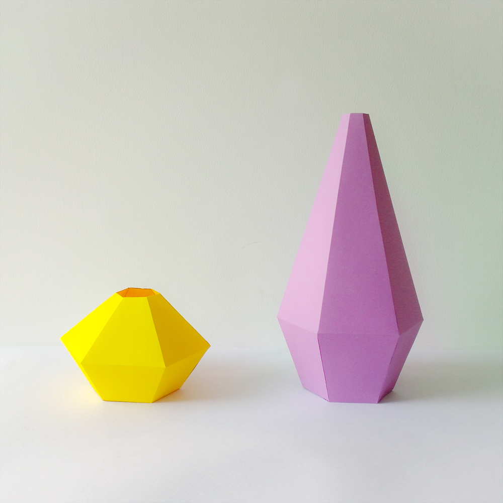 DIY Paper Vases - 3d papercraft example image 1