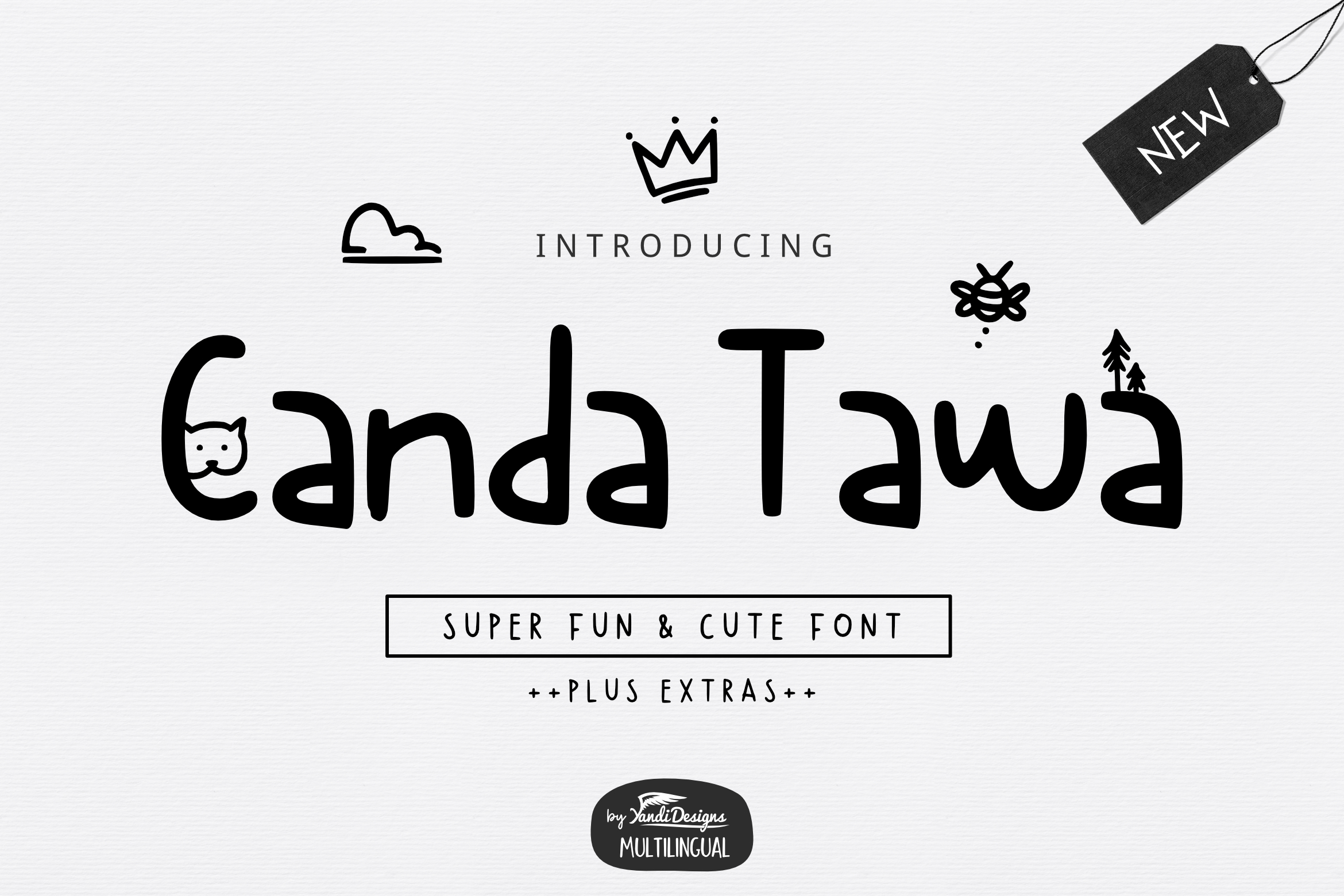 Cute Font Bundle by YandiDesigns example image 7