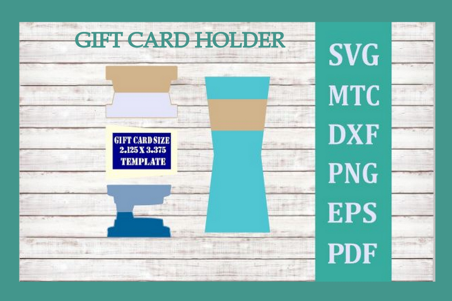 SVG Gift Card Holder Coffee Cup Bundle 4 Cut Files Included example image 2
