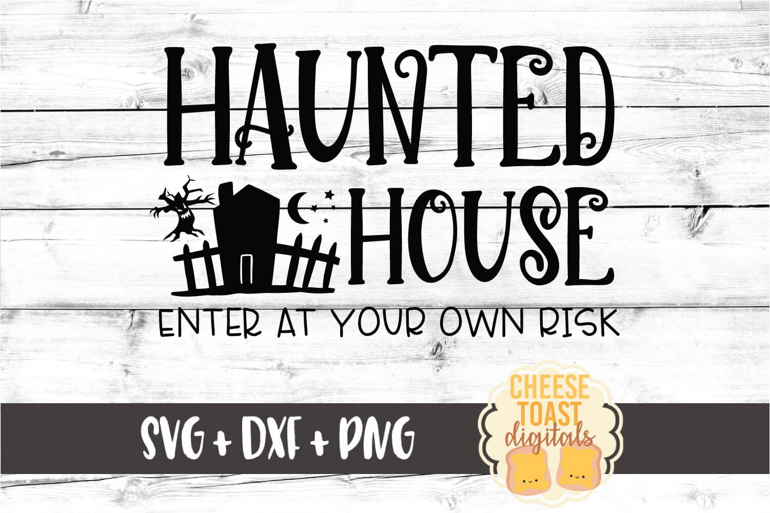 Haunted House Enter At Your Own Risk - Halloween SVG File example image 2