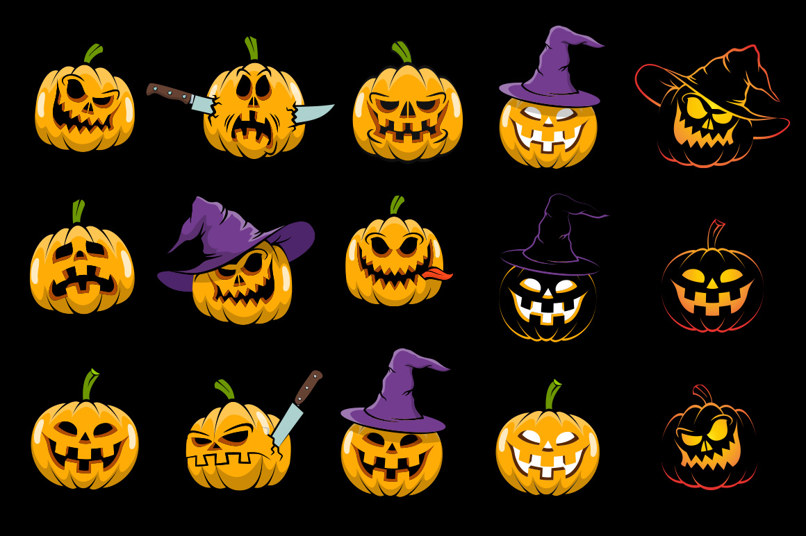 Halowen Pumpkins Pack example image 3