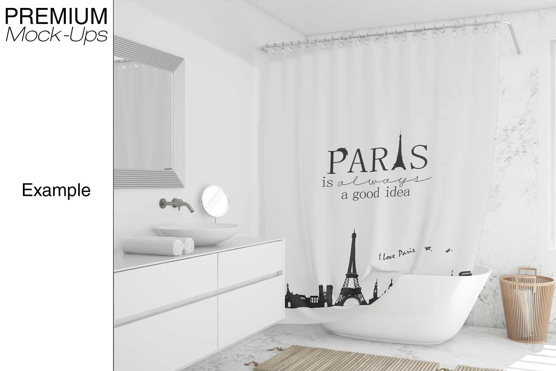 Shower Curtain Mockup Pack example image 3
