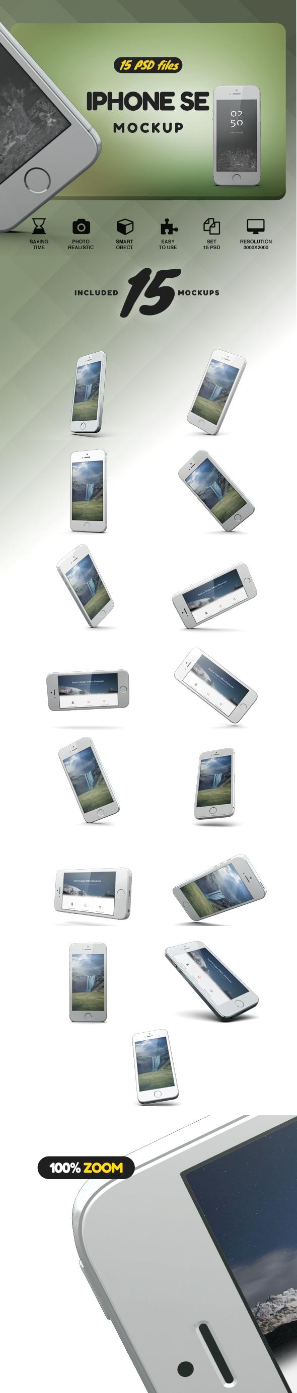 iPhone SE Mockup example image 2