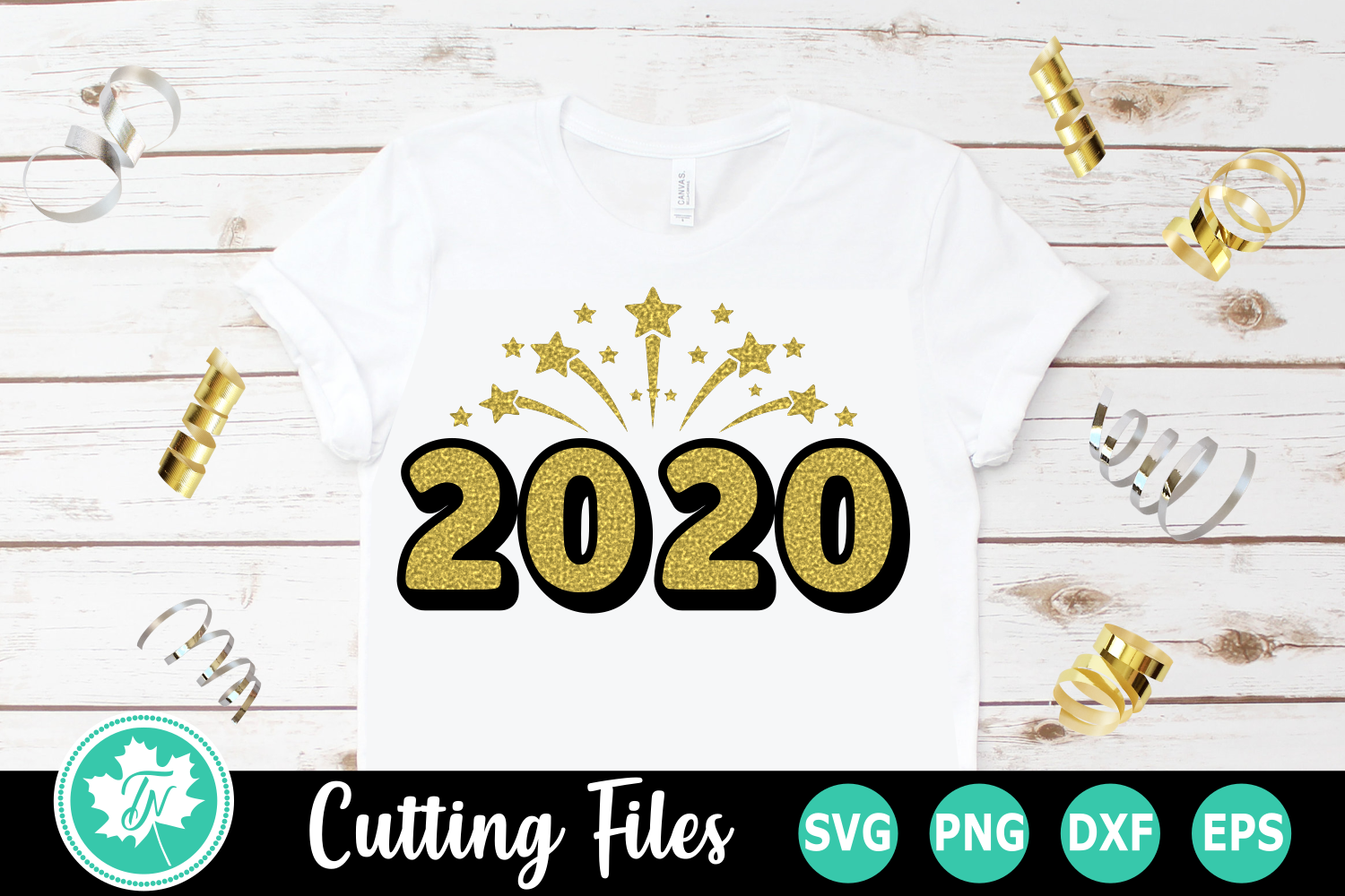 2020 Firework - A New Year's SVG Cut File example image 1