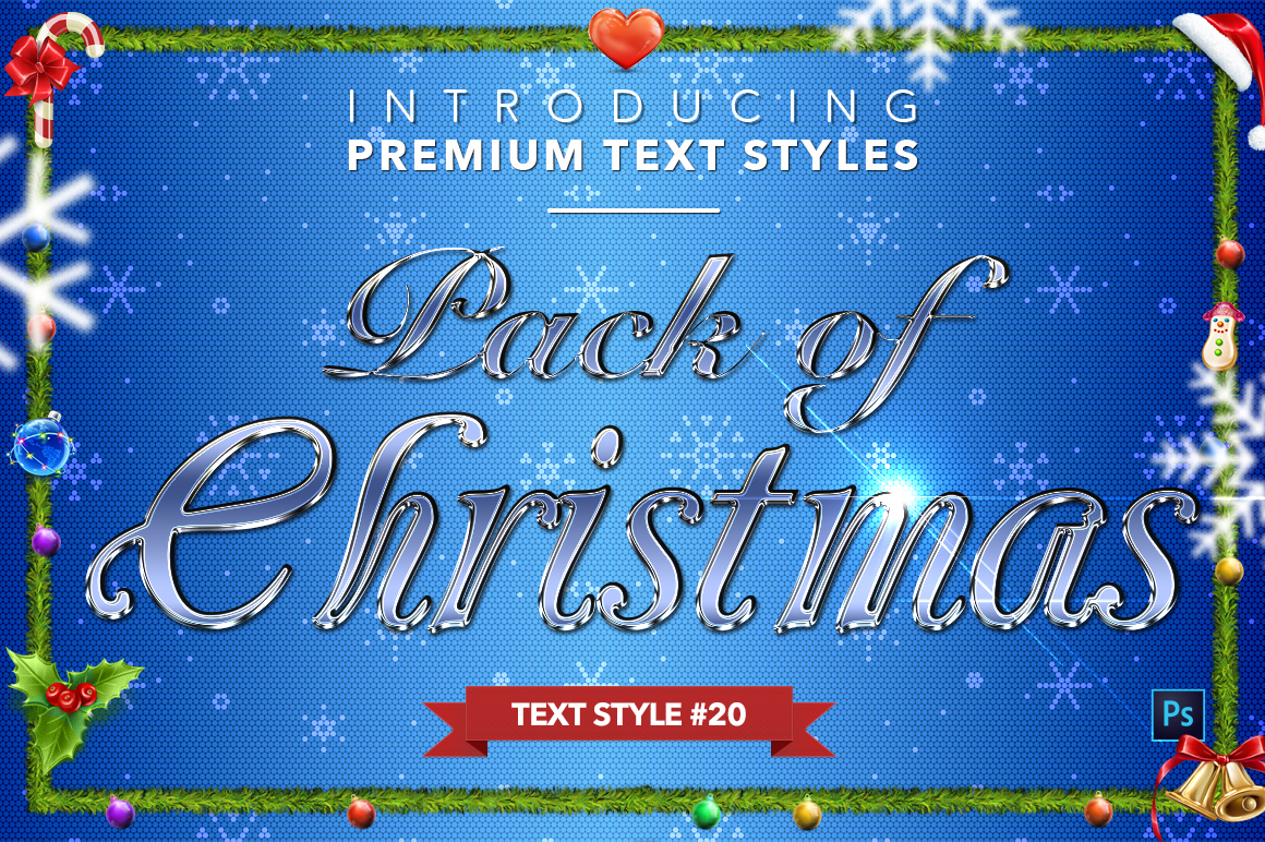 Christmas Pack #2 - 20 Text Styles example image 21