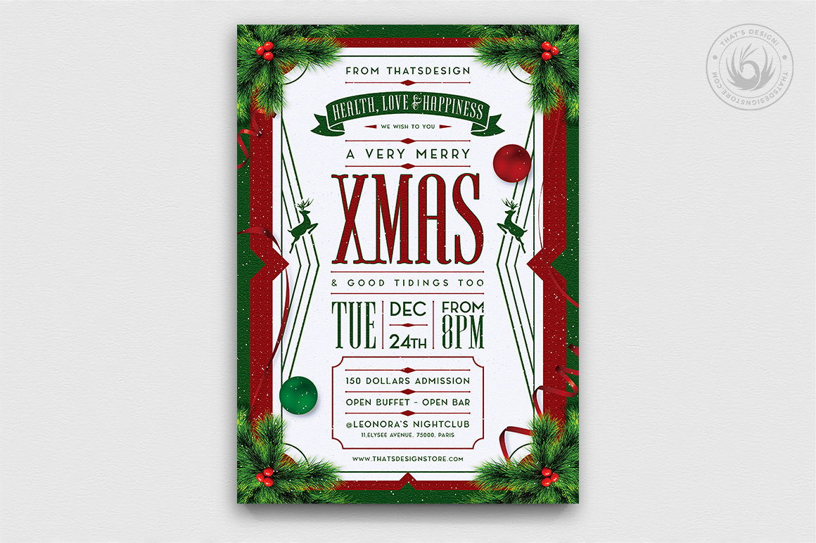 Christmas Eve Flyer Template V8 example image 1
