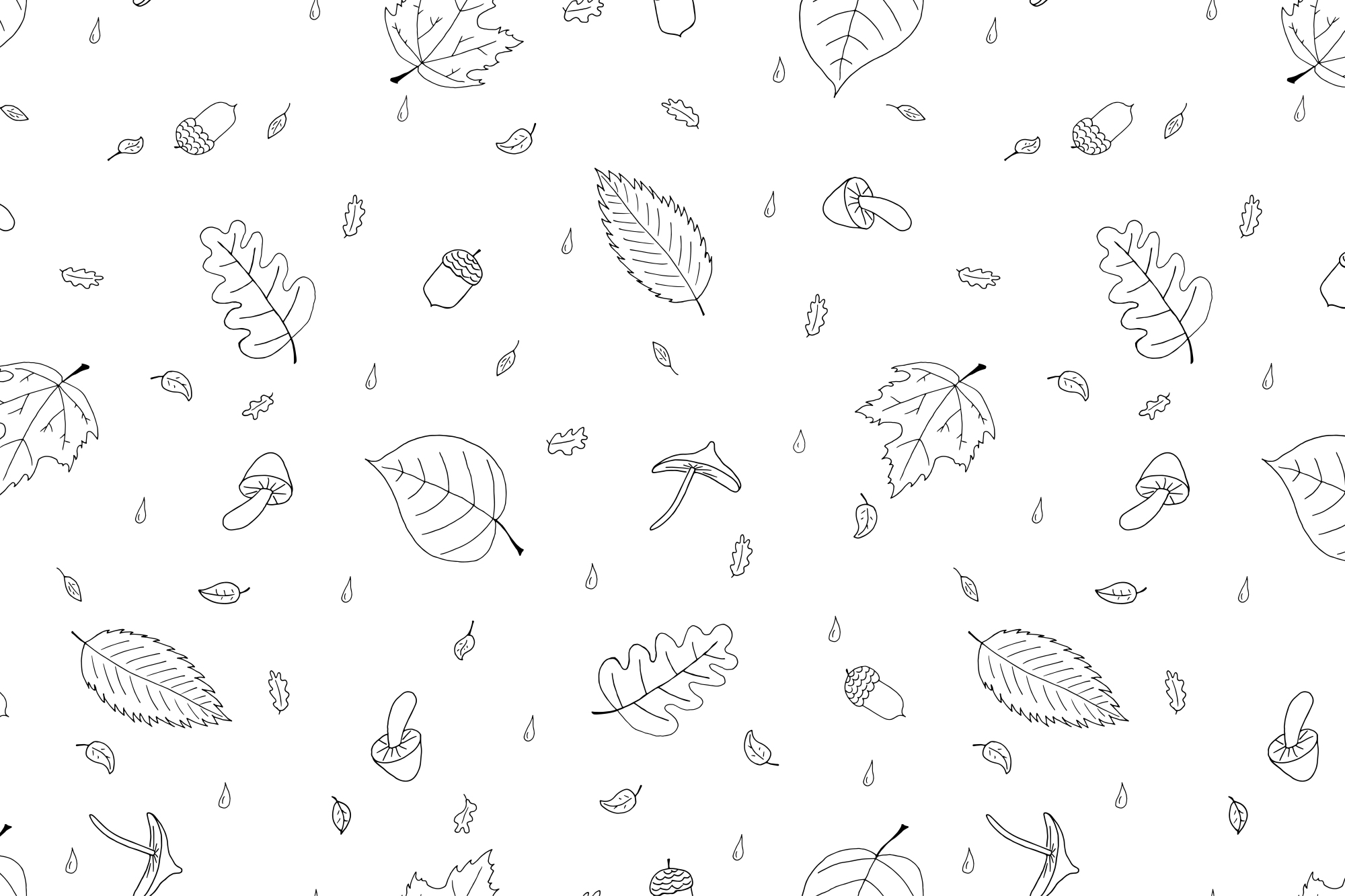 Autumn collection in doodle style. example image 2