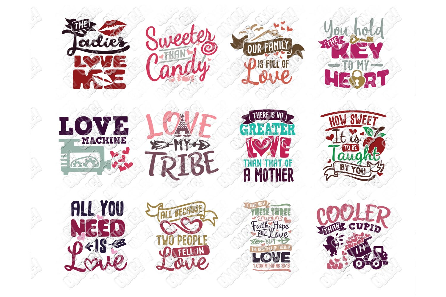 Valentine Quotes SVG Phrases Bundle in SVG/DXF/PNG/JPG/EPS example image 8