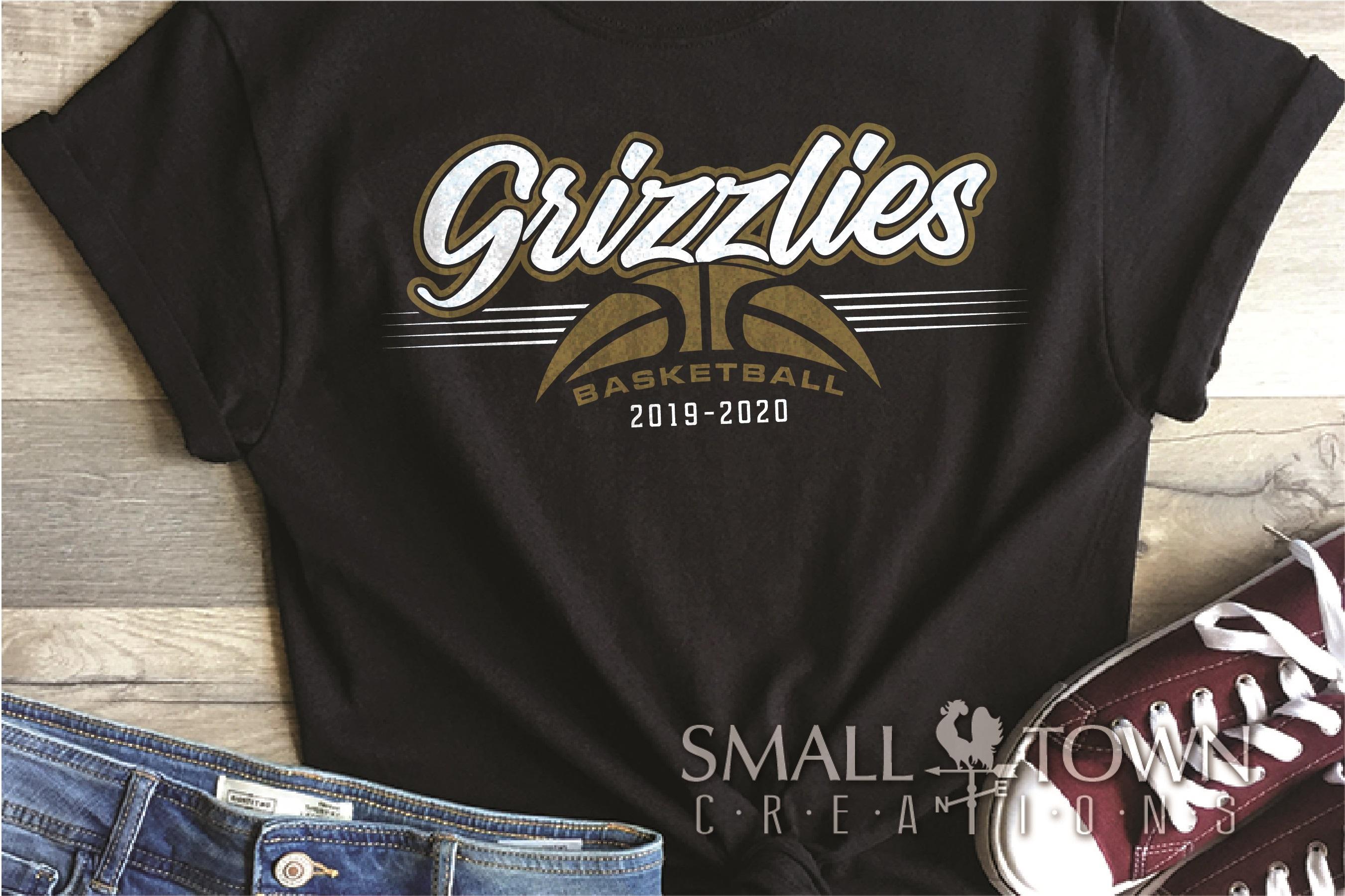 Grizzlies, Basketball, Sport, Team, Logo, PRINT, CUT, DESIGN example image 1