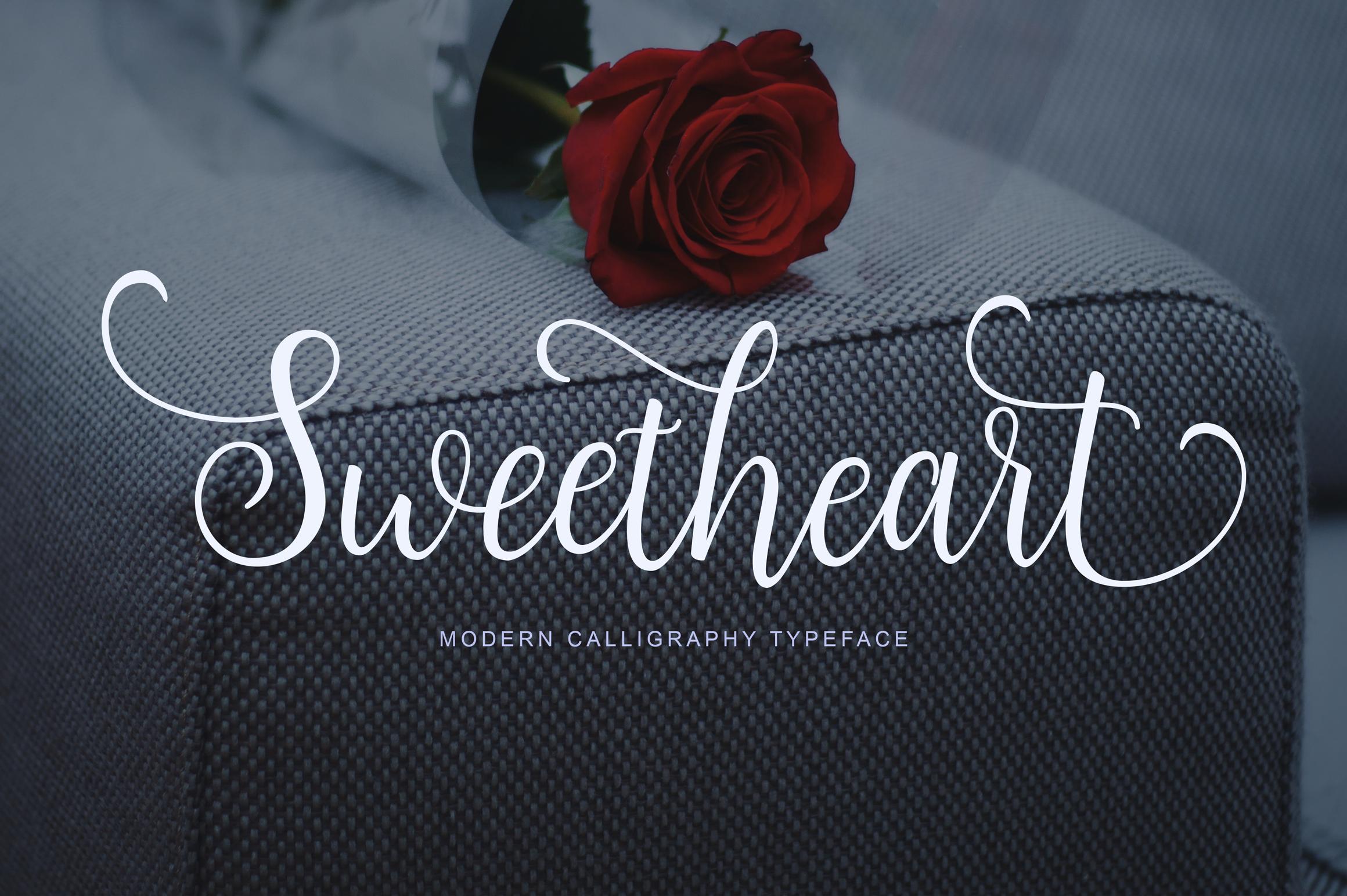 Sweetheart Script example image 1