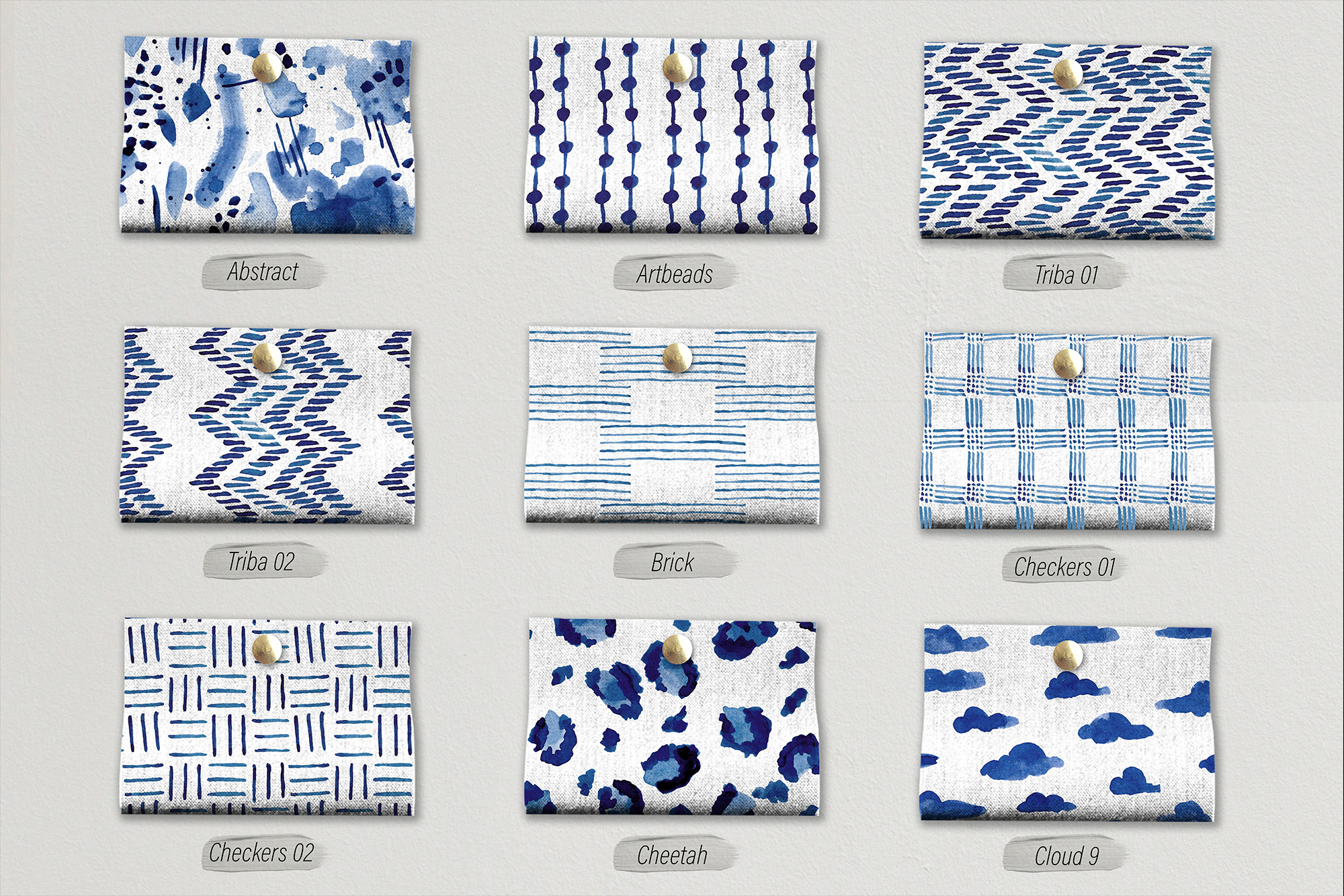 Blueberry Watercolor Pattern Collection example image 3