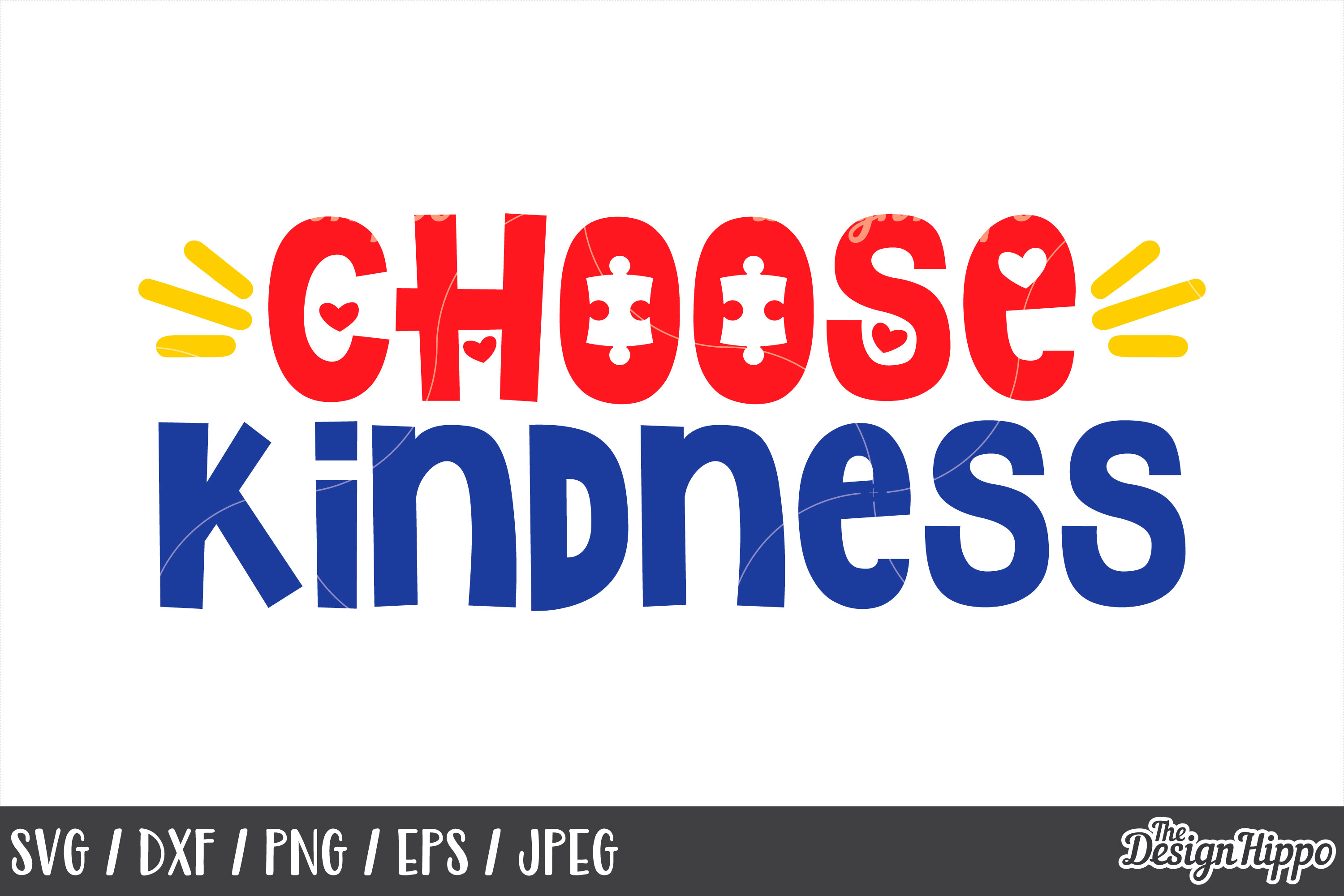Autism Awareness, Choose Kindness SVG, DXF PNG EPS Cut Files example image 1