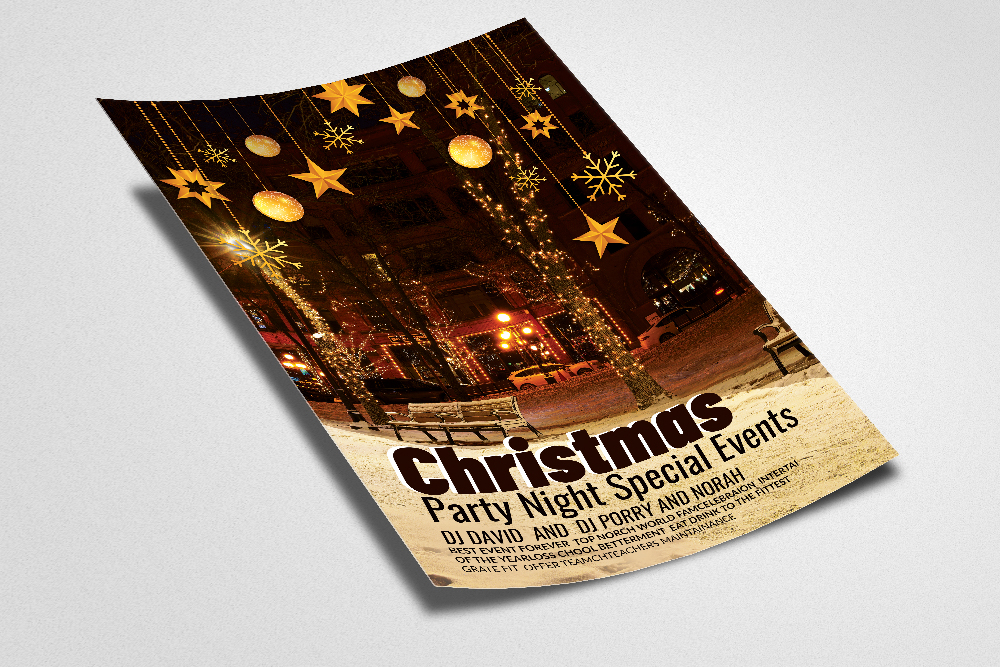 Merry Christmas Flyer Template example image 2