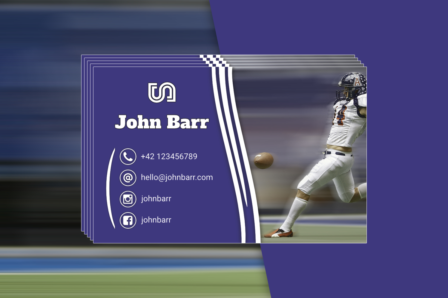 12 Sport Business Card Templates example image 12