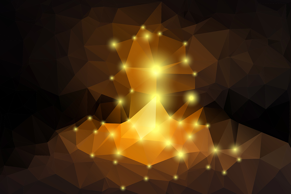 Polygon vector backgrounds set example image 12