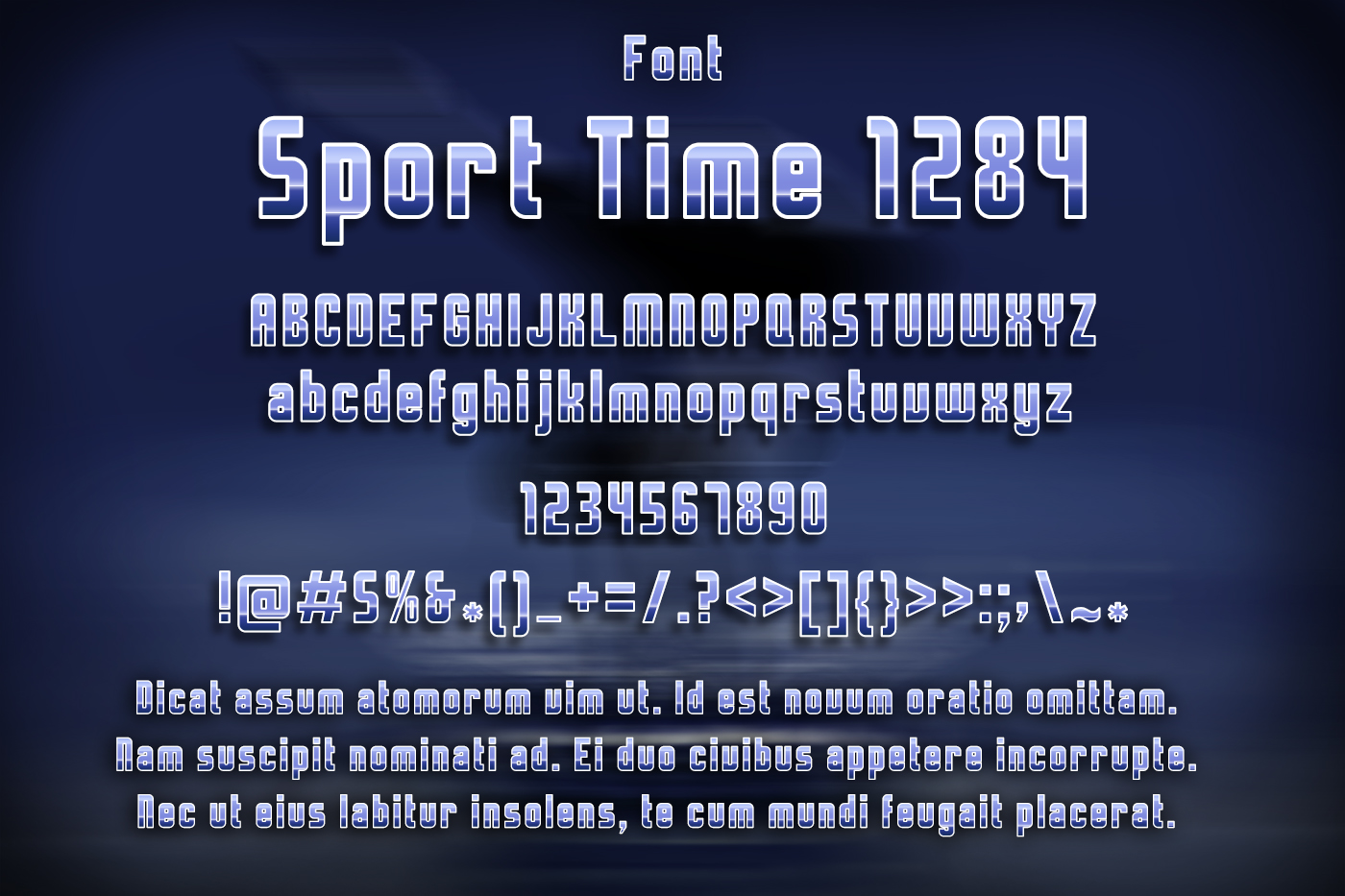Sport Time Font example image 2